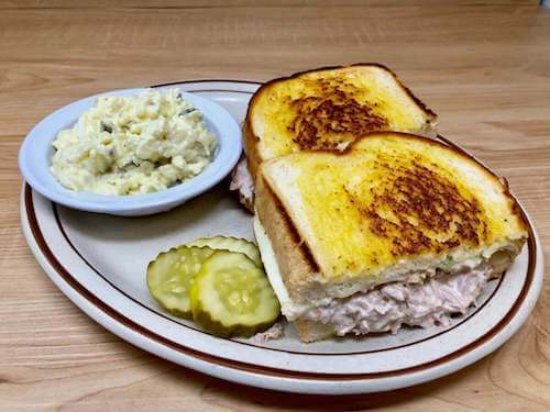 Tuna Melt & Potato Salad